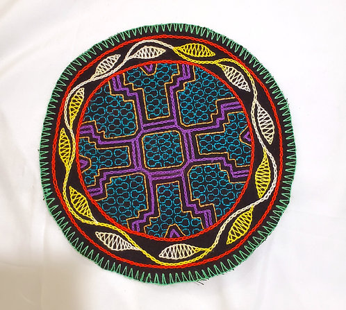 AC11.1 Hand Embroidered Meditation Circle 8""