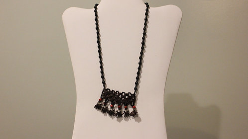 JN40 Beaded Huayruro and Shell Necklace