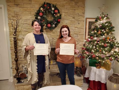 CONGRATULATIONS to our newest Reiki Master Teachers!: Kaylee Tedder & Athenia Lie