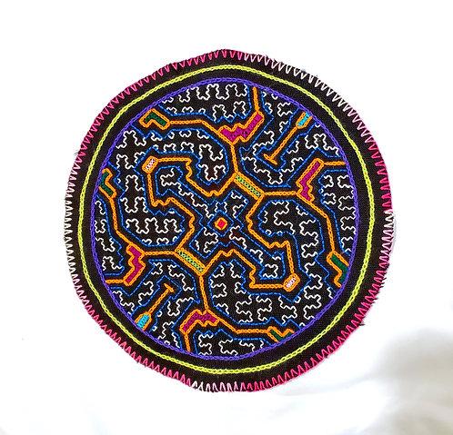 "AC19.2 Hand Embroidered Meditation Circle 8"""