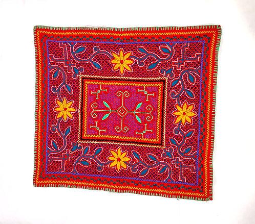 """AA78.3 Hand-Embroidered Ayahuasca Vine Themed Altar Cloth 18""""x 20.5"""""""