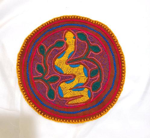 "AC9.7 Hand Embroidered Meditation Circle 7.5"""