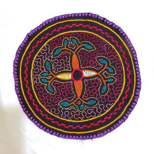 AC13.2 Hand Embroidered Meditation Circle 9""