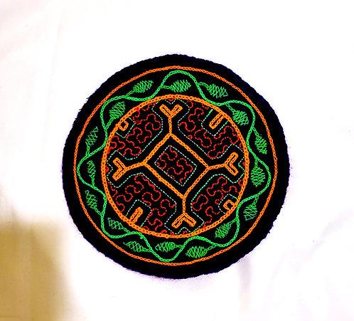 "AC5.41 Hand Embroidered Meditation Circle 5.5"""