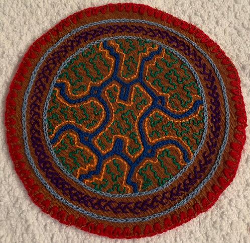 "AC3.11 Hand Embroidered Meditation Circle 5.5"""