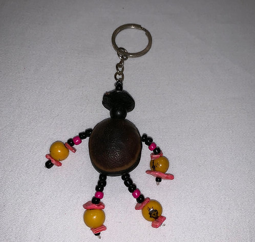 GK6 Seed and Bead Person Key Chain