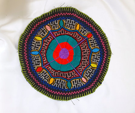 AC23.4 Hand Embroidered Meditation Circle 9""