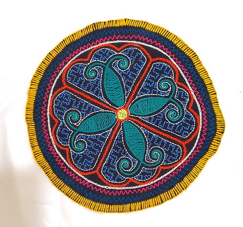 AC15.12 Hand Embroidered Meditation Circle 9""