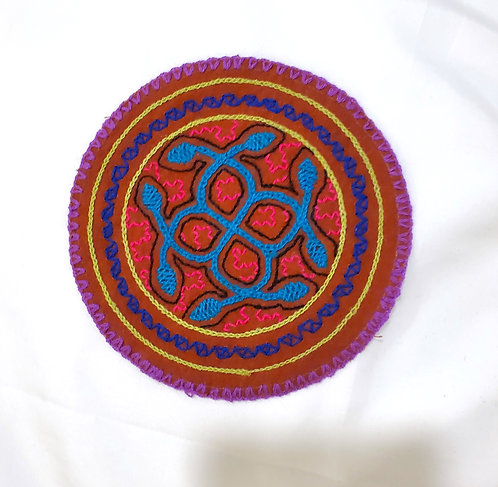 AC4.8 Hand Embroidered Meditation Circle 5.5""