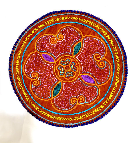 AC24.4 Hand Embroidered Meditation Circle