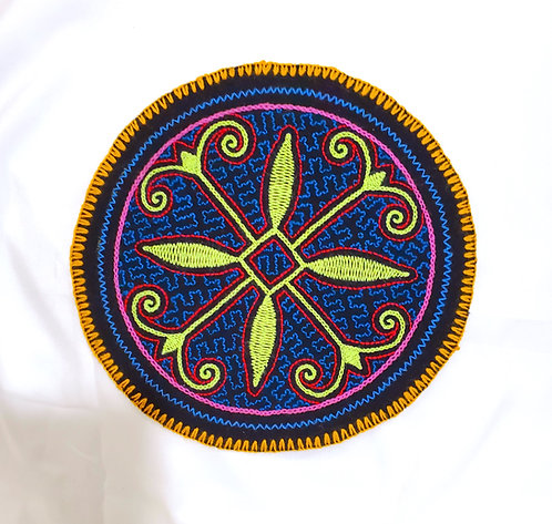 AC14.2 Hand Embroidered Meditation Circle 7.75""