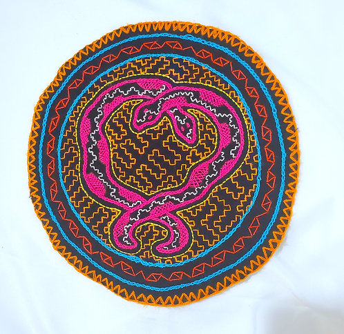 AC9.2 Hand Embroidered Meditation Circle 8.25""