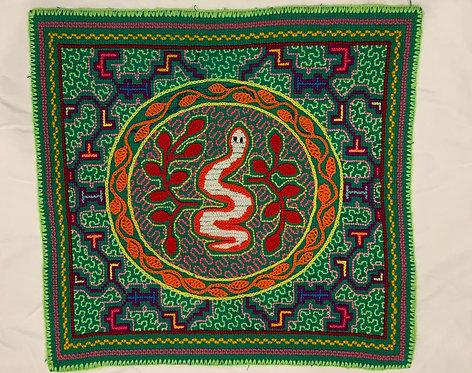 "AA23 Serpent Circle Altar Cloth 13.75"" X 13.25"""