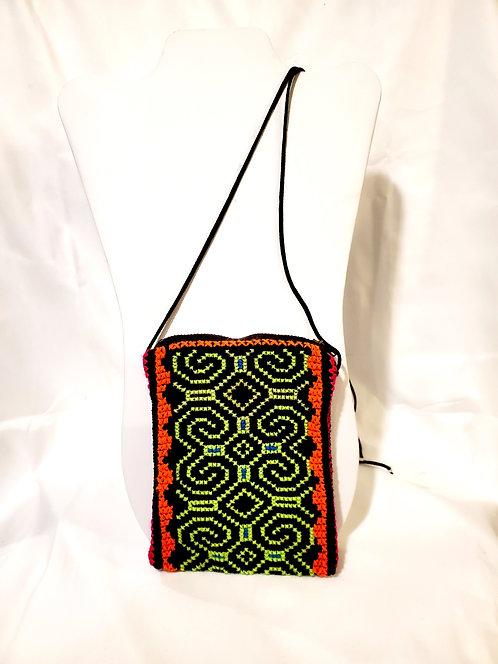 "GB46.3 Hand-Embroidered Shipibo Textile Mini Bags, 4.5"" x 6"""