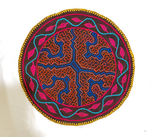 AC15.10 Hand Embroidered Meditation Circle 9.75""