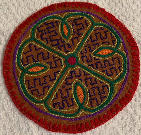 AC3.8 Hand Embroidered Meditation Circle 5.5""