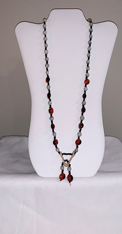JN53 Jaw, Huayruro, and Seed Necklace