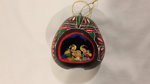 GO3.2 Gourd Ornaments Hand-Painted Multicolored; Psychedelic Ornament