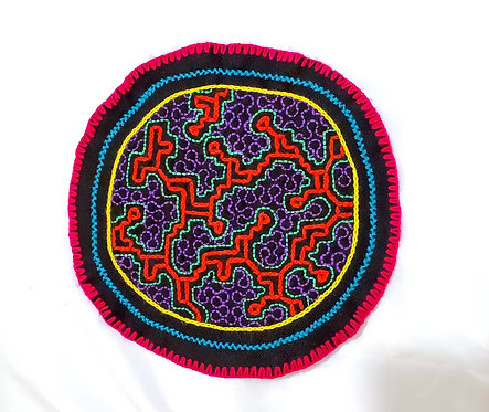 AC8.3 Hand Embroidered Meditation Circle 7.75""