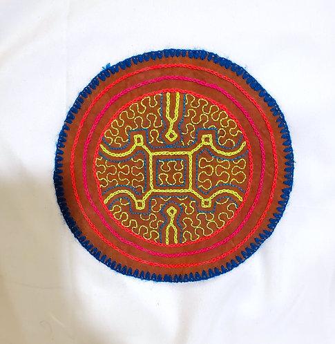 "AC4.25 Hand Embroidered Meditation Circle 6"""
