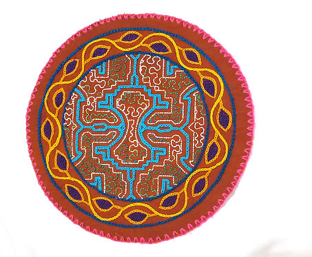 AC13.11 Hand Embroidered Meditation Circle 8""