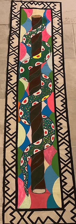 AP1 Painting - Hand painted ayahuasca serpent with vine