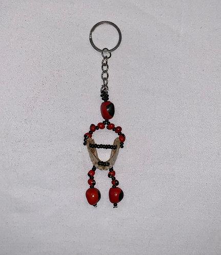 GK14 Huayruro and Piranha Jaw Key Chain