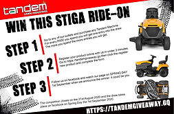 Win a Stiga Ride-on Lawnmower from Tandem