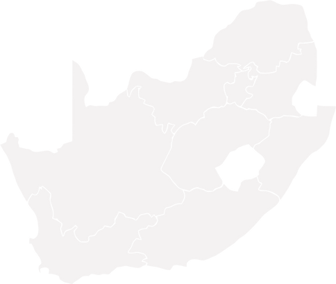 South Africa infections - provincial map