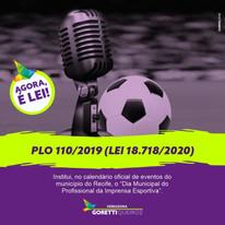 Prefeito do Recife sanciona lei que cria o Dia da Municipal da Imprensa Esportiva