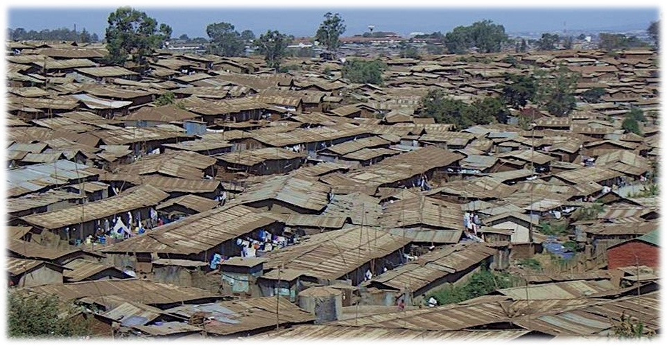 Kibera Township, Nairobi, one of Africa's most sprawling slums.