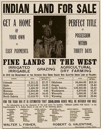 Indian Land for Sale poster_19th century
