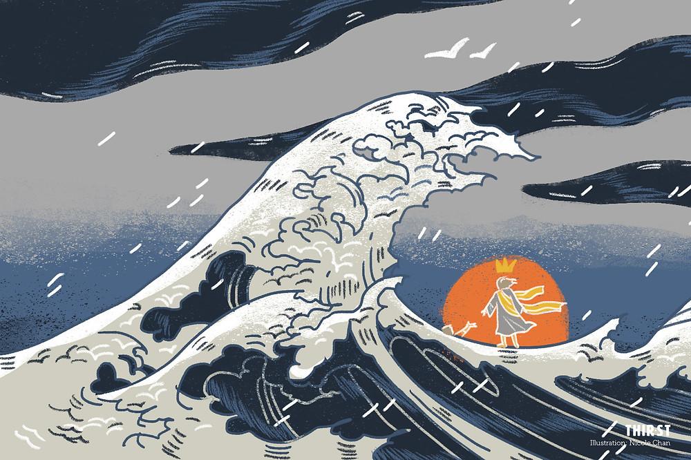 overwhelmed - tsunami
