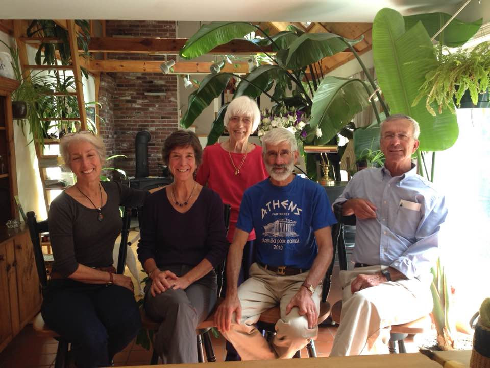 My sister, Sue Lamdin, mother Janet Barnard and brothers Whit and Terry Barnard to my left, 2015 (JR Bowey)