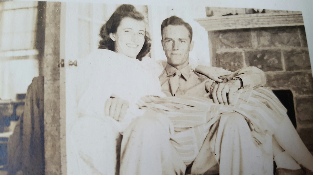 My mom and dad, Janet and Walter Barnard, on honeymoon around 1946