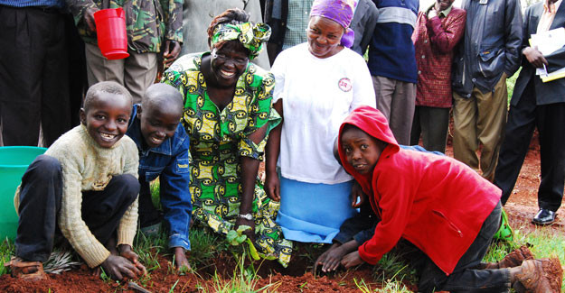 Wangari as I remember her best, courtesy of the Greenbelt Movement.
