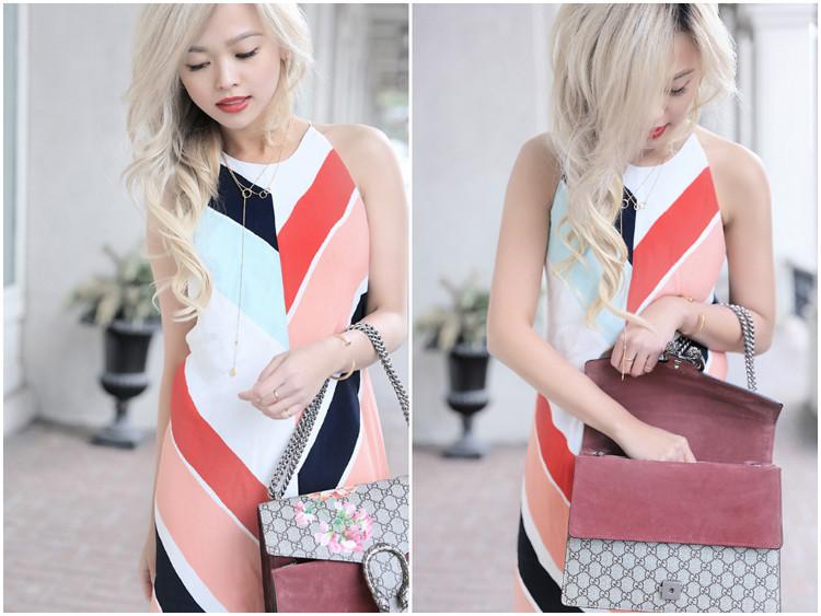 Love Between the Racks - Fashion Blogger - Striped dress Gucci Dionysus bag