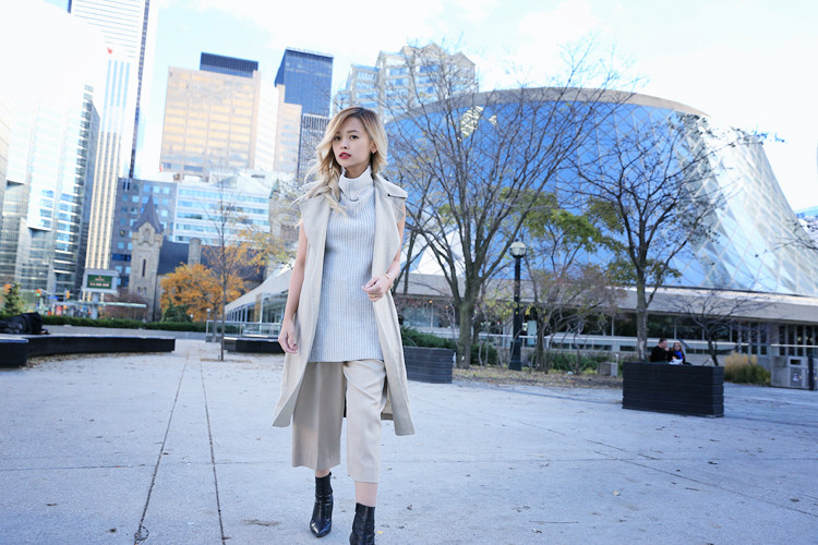 Love Between the Racks Lina Dinh OOTD Sleeveless coat, tonal dressing 4