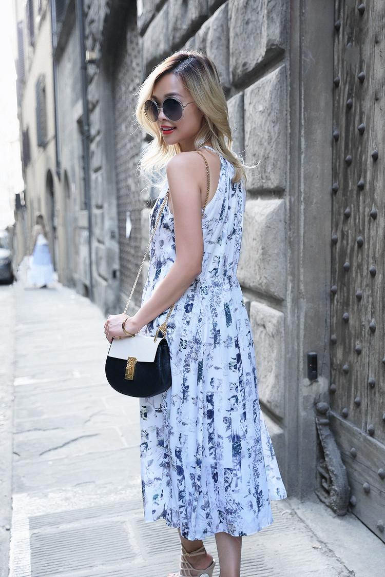 Love Between the Racks x Florence - Fashion Blogger - Club Monaco floral dress, Chloe Drew bag 970