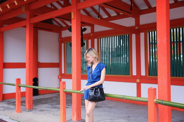 Love Between the Racks - Fashion Blogger Lina Dinh - Kyoto Japan - Aritzia romper, Mansur Gavriel lady bag, Aquazzura lace flats 3107