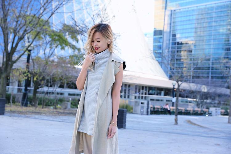 Love Between the Racks Lina Dinh OOTD Sleeveless coat, tonal dressing 5