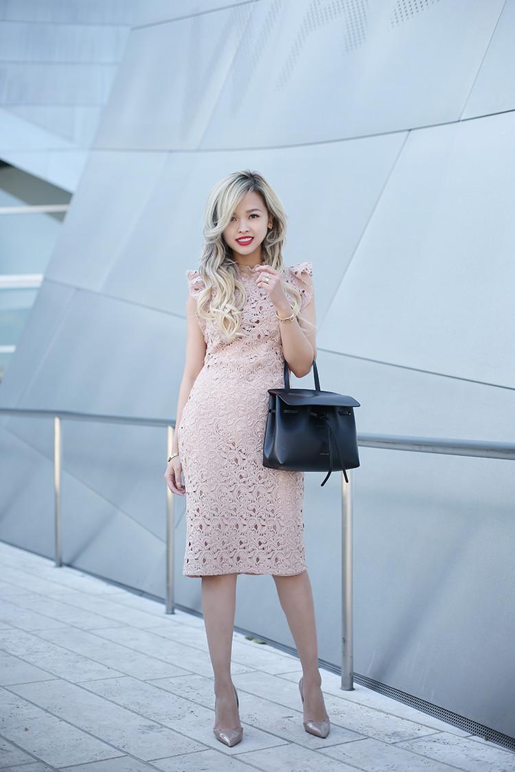 Love Between the Racks - fashion blogger - lace dress, Kurt Geiger bond pumps, Mansur Gavriel lady bag_4866