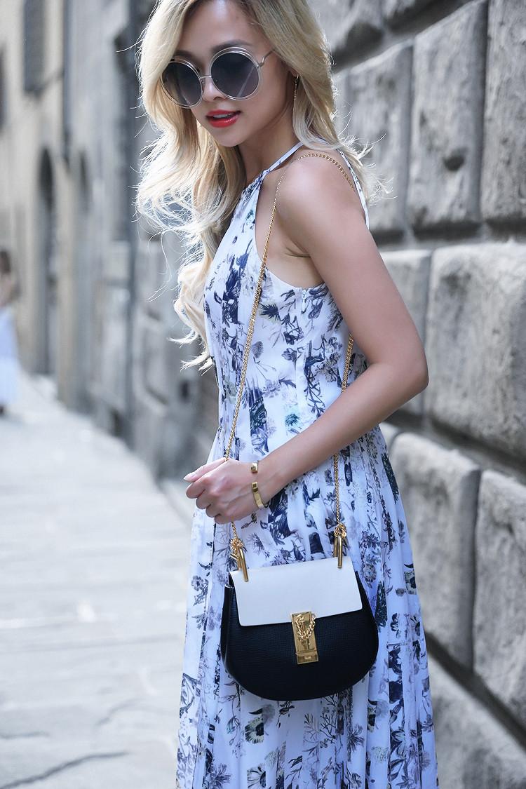 Love Between the Racks x Florence - Fashion Blogger - Club Monaco floral dress, Chloe Drew bag 976