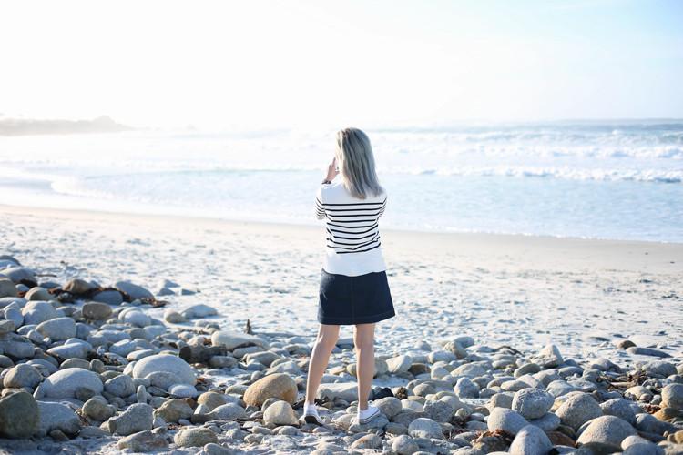 Love Between the Racks - Lina Dinh - Monterey Bay, stripe sweater, denim skirt, converse sneakers, Mansur Gavriel lady bag 8 copy