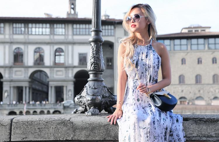 Love Between the Racks x Florence - Fashion Blogger - Club Monaco floral dress, Chloe Drew bag 849