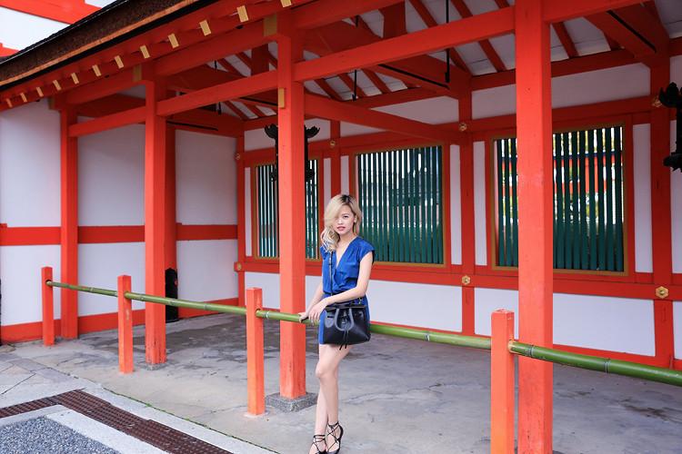Love Between the Racks - Fashion Blogger Lina Dinh - Kyoto Japan - Aritzia romper, Mansur Gavriel lady bag, Aquazzura lace flats 3105