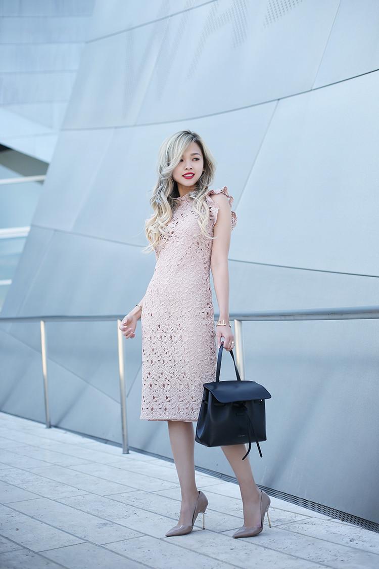 Love Between the Racks - fashion blogger - lace dress, Kurt Geiger bond pumps, Mansur Gavriel lady bag_4823