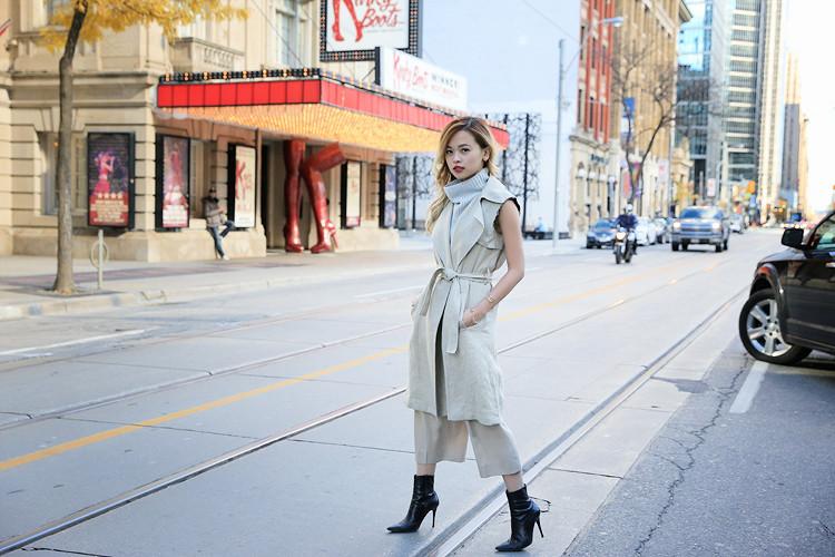 Love Between the Racks Lina Dinh OOTD Sleeveless coat, tonal dressing 7