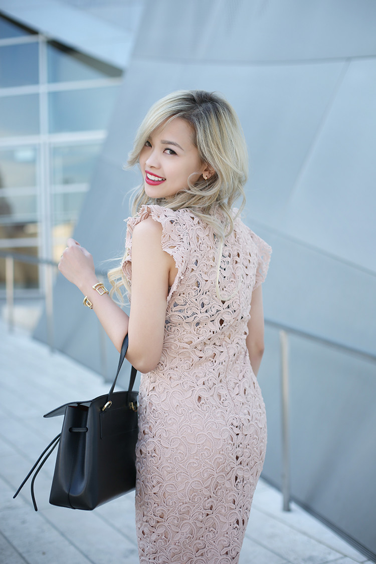 Love Between the Racks - fashion blogger - lace dress, Kurt Geiger bond pumps, Mansur Gavriel lady bag_4884