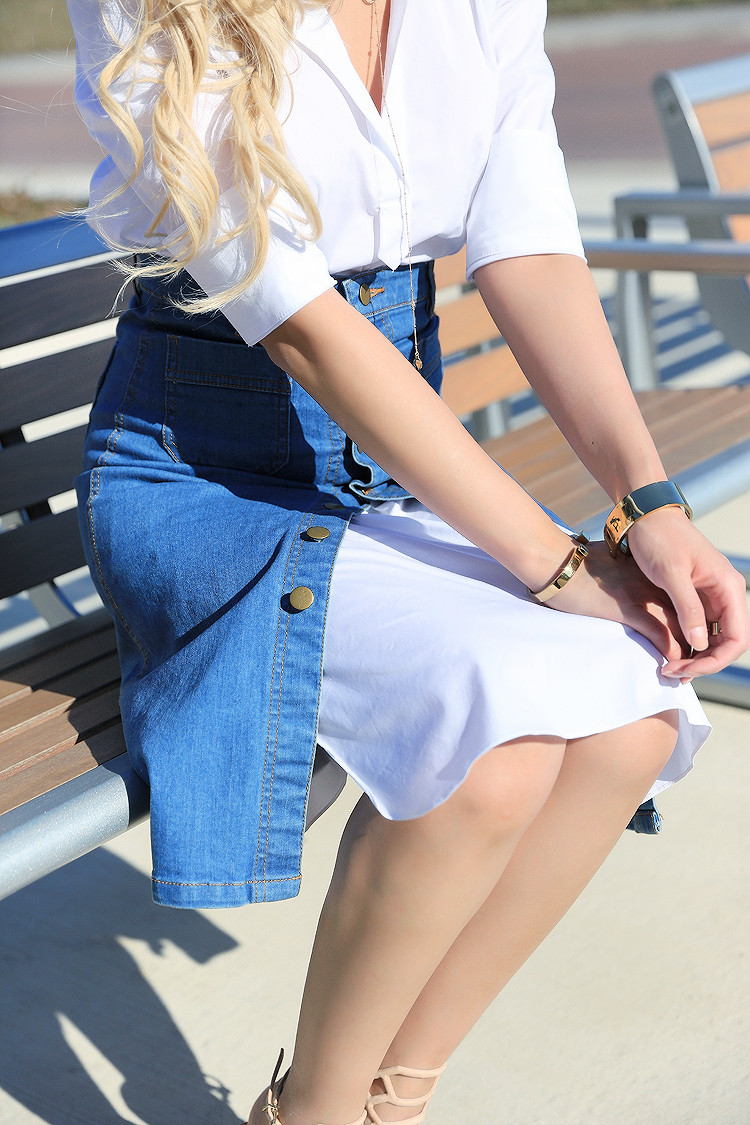 Love Between the Racks - Canadian Fashion Blogger - how to wear a skirt over a shirt dress3571